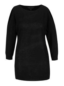 Černý lehký svetr s průstřihy na ramenou Dorothy Perkins