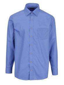 Modrá pánska modern fit košeľa STEVULA Royal