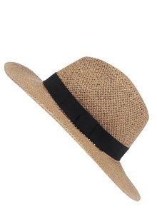 Pălărie maro din paie Dorothy Perkins cu panglică