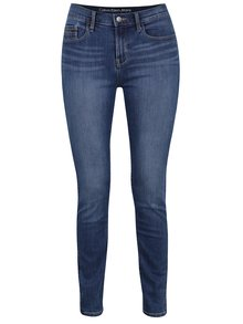 Tmavě modré dámské džíny s vyšisovaným efektem Calvin Klein Jeans