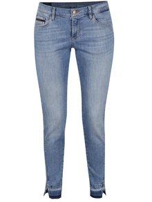 Světle modré skinny džíny s detaily Calvin Klein Jeans High Mr
