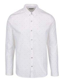 Bílá pánská vzorovaná košile Calvin Klein Jeans