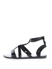 Sandale negre Zaxy Dual cu barete încrucișate