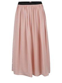 Staroružová midi sukňa Calvin Klein Jeans Kanya