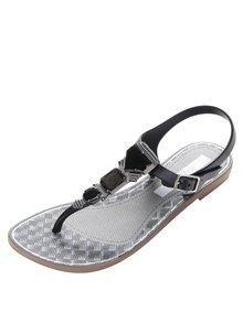Čierne sandále so zdobením Grendha Cartago