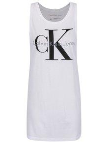 Bílé dámské dlouhé tílko s potiskem Calvin Klein Jeans Tyler