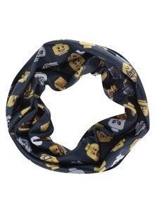 Žluto-šedý klučičí šátek s potiskem LEGO Wear Ayan