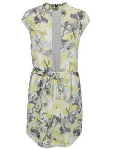 Žluto-šedé květované šaty Calvin Klein Jeans Dakira