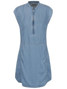 Modré šaty s krátkym rukávom Calvin Klein Jeans Dana