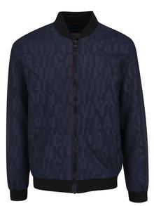 Tmavě modrý pánský bomber s motivem písma Calvin Klein Jeans Ondo 2