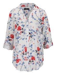 Bílá dámská květovaná košile M&Co