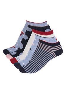 Sada pěti párů dámských vzorovaných ponožek v modré barvě M&Co