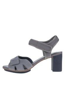 Sivé sandálky na podpätku Camper Myriam