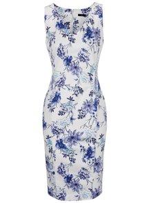 Modro-krémové květované šaty M&Co