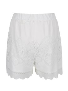 Pantaloni scurti albi din dantela VILA Bellina