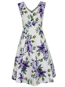Rochie crem & violet M&Co cu model floral