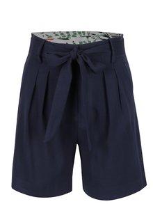 Pantaloni scurți bleumarin VILA Mela cu cordon în talie