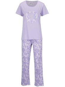 Svetlofialové pyžamo s potlačou M&Co