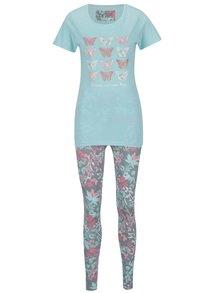 Mentolové pyžamo s motivem motýlů M&Co