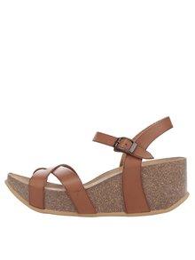 Hnědé dámské sandály na platformě OJJU