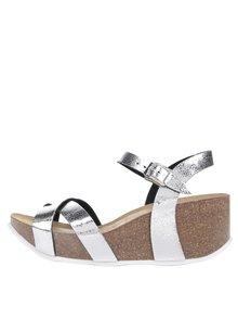 Dámské sandály na platformě ve stříbrné barvě OJJU