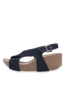 Modré dámské sandály s překříženými pásky OJJU