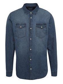 Tmavě modrá džínová slim fit košile Jack & Jones One