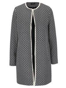 Jachetă lungă crem & negru M&Co cu model
