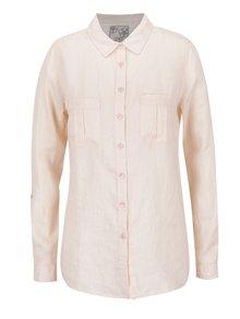 Svetloružová ľanová košeľa M&Co