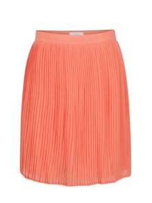Neónová oranžová plisovaná sukňa VILA Dricca