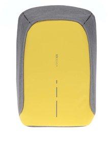 Sivo-žltý nevykradnuteľný unisex batoh XD Design Bobby