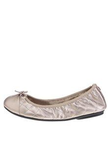 Prošívané baleríny ve zlaté barvě do kabelky Butterfly Twists Olivia