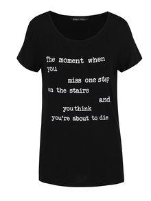 Tricou negru ONLY Arli cu imprimeu text