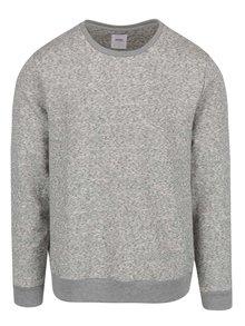 Bluză gri melanj Burton Menswear London cu terminații elastice
