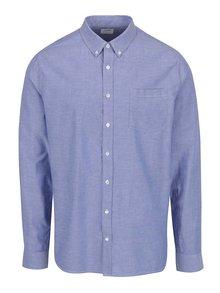 Svetlomodrá košeľa s predĺženou dĺžkou Burton Menswear London