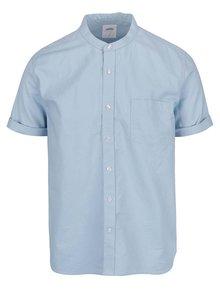Svetlomodrá košeľa bez goliera Burton Menswear London
