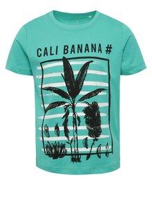 Tricou verde name it Kurt din bumbac cu print pentru băieți