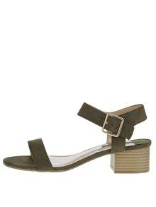 Tmavozelené sandálky v semišovej úprave Dorothy Perkins