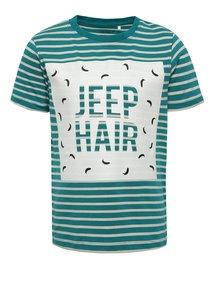 Tricou verde & crem name it Vuxjess cu print și model în dungi pentru băieți