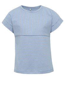 Tricou alb & albastru name it Kippi cu model în dungi pentru fete