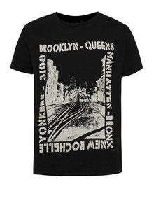 Tricou negru LIMITED by name it Sinus din bumbac cu print pentru băieți