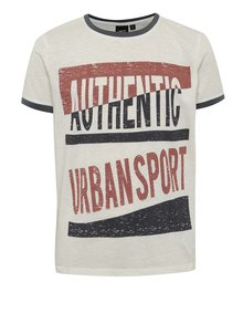 Tricou crem melanj LIMITED by name it Sylvest cu print pentru băieți
