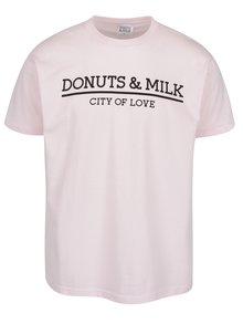 Tricou roz pal Donuts & Milk unisex