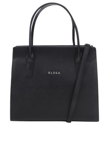 Čierna kožená kabelka Elega Nate