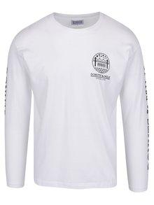 Biele unisex tričko s dlhým rukávom Donuts & Milk