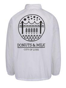 Jacheta alba Donuts & Milk unisex