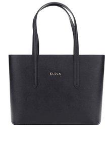 Černá kožená velká kabelka Elega Simone