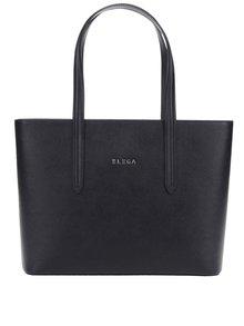 Čierna kožená veľká kabelka Elega Simone S