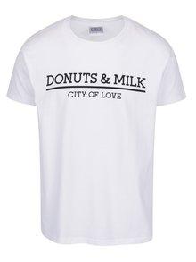 Tricou alb Donuts & Milk unisex
