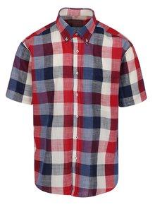 Modro-červená kockovaná neformálna košeľa Seven Seas